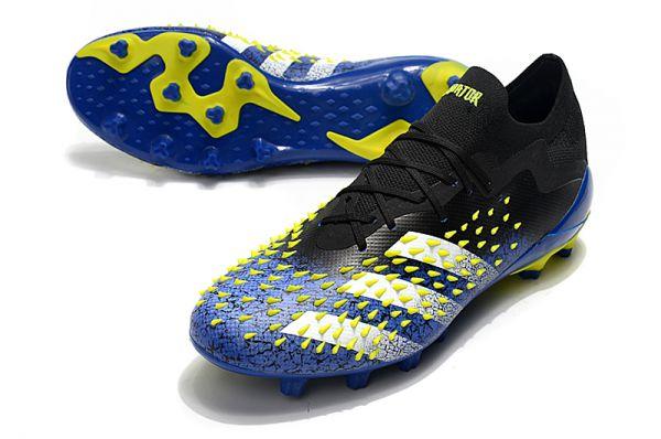2021 Adidas Predator Freak.1 Low AG Blue/Core Black/White/Yellow