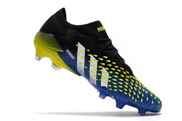 2021 Adidas Predator Freak.1 Low FG Blue/Core Black/White/Yellow