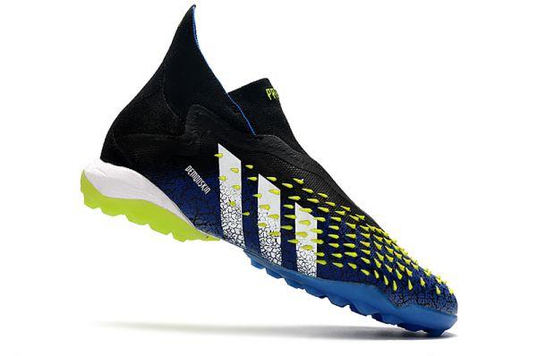 2021 Adidas Predator Freak TF Blue/Black/White/Solar Yellow