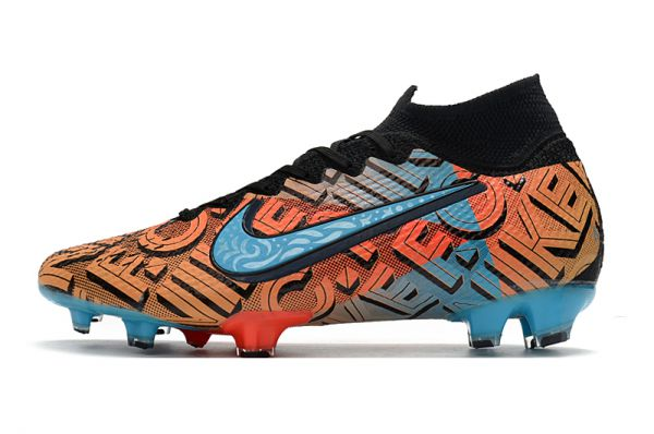 2021 Nike Mercurial South Mexico City Superfly 7 Elite FG Black / Blue / Multicolor