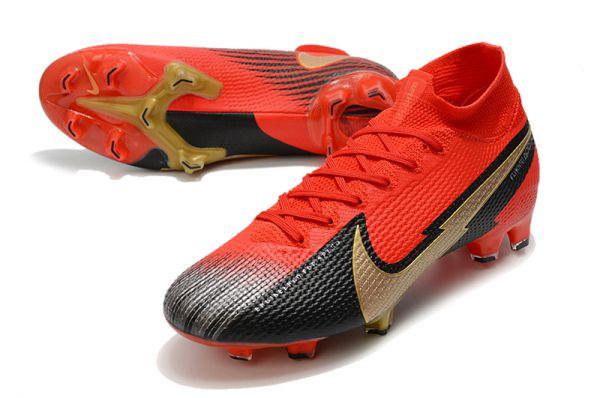 2021 Nike Mercurial Superfly 7 Elite FG Red Gold Black