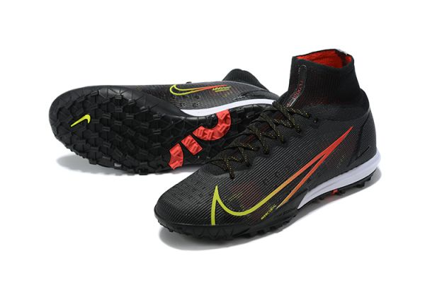 2021 Nike Mercurial Superfly 8 Elite TF Black/Cyber/Off Noir