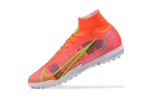 2021 Nike Mercurial Superfly 8 Elite TF Bright Crimson/Metallic Silver