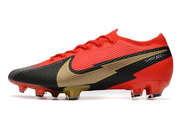 2021 Nike Mercurial Vapor 13 Elite FG Red Gold Black