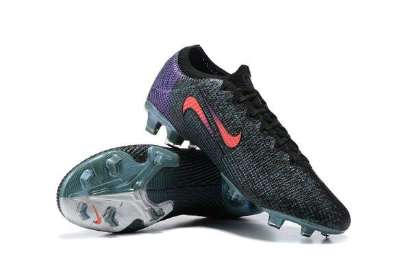 2021 Nike Mercurial Vapor 13 Elite SE FG Black/Fierce Purple/Metallic Silver