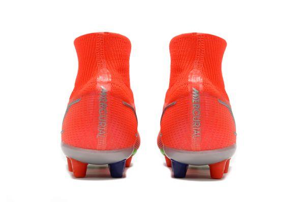Kids Nike Mercurial Superfly 8 Elite AG-PRO Bright Crimson Metallic Silver