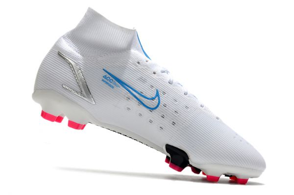 2021 Nike Mercurial Superfly 8 Elite FG Football Boots White Blue Pink