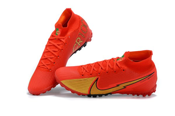 Nike Mercurial Superfly 7 Elite TF Red Gold Black