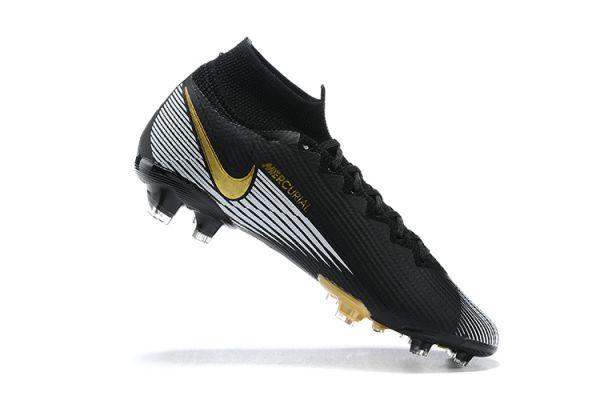 Nike Mercurial Superfy 7 Elite FG Black White Gold