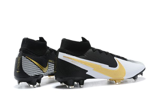 Nike Mercurial Superfy 7 Elite FG Black White Gold
