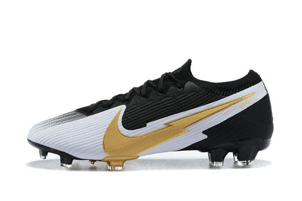 Nike Mercurial Vapor 13 Elite FG Black White Gold