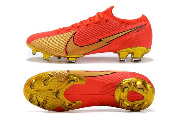 Nike Mercurial Vapor 13 Elite FG Red Gold Black