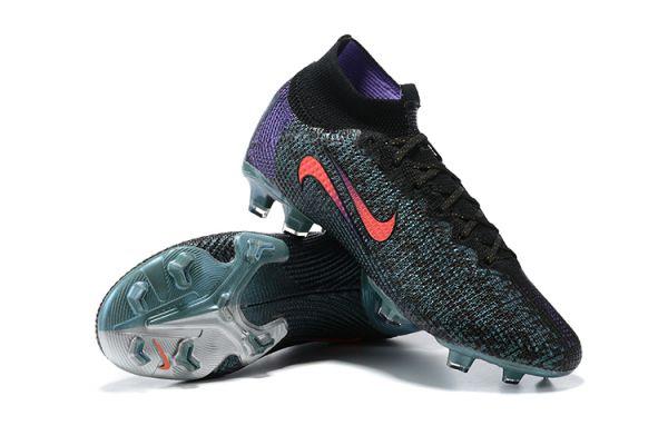 2021 Nike Mercurial Superfly 7 Elite FG Black/Fierce Purple/Metallic Silver/Crimson