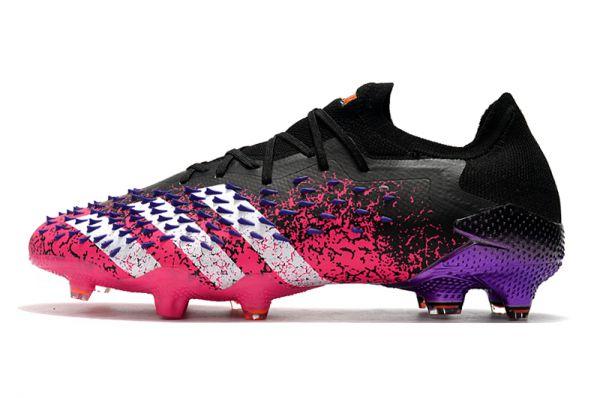 adidas Predator Freak.1 Low FG Football Boots Core Black/White/Shock Pink