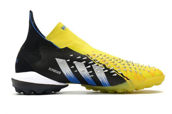 adidas Predator Freak+ TF Football Boots Bright Yellow/Silver Metallic/Core Black