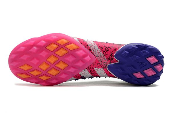 adidas Predator Freak+ TF Football Boots Core Black/White/Shock Pink