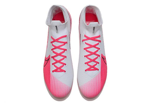 kids Nike Mercurial Superfly VII 7 Elite SE FG Football Boots White Pink