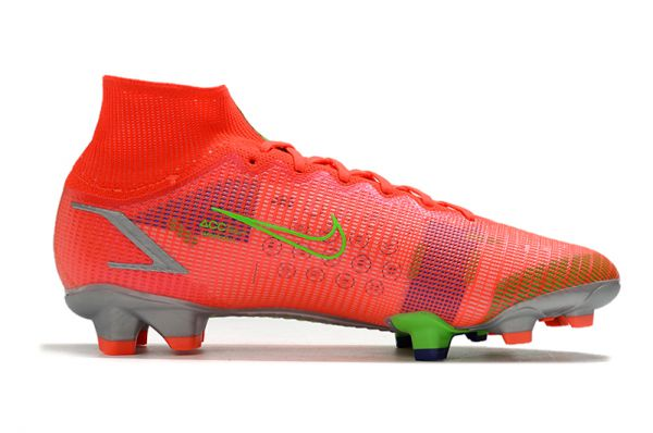 Kids Nike Mercurial Superfly VIII Elite FG Football Boots Bright Crimson/Metallic Silver