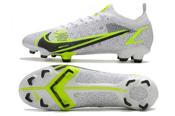 Kids Nike Mercurial Vapor 14 Elite FG Football Boots White/Black/Metallic Silver/Volt