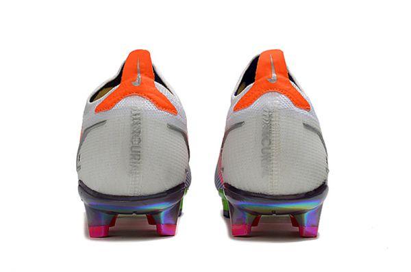 KIds Nike Mercurial Vapor Dragonfly 14 Elite FG Football Boots White/Metallic Silver/Dark Raisin