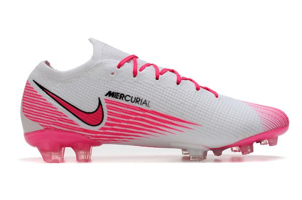 kids Nike Mercurial Vapor VII 13 Elite FG Football Boots White Pink