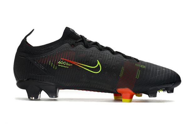 Kids Nike Mercurial Vapor XIV Elite FG Football Boots Black / Cyber / Off Noir