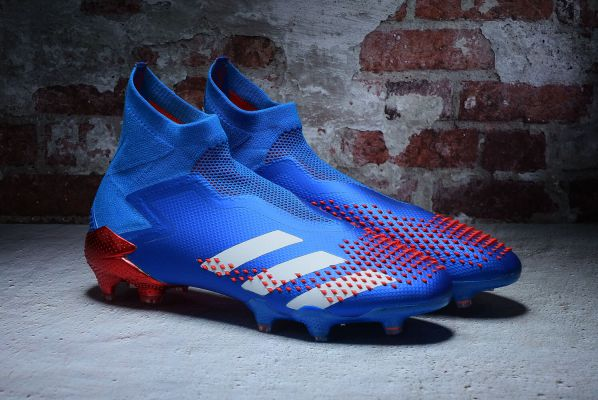 Kids adidas Predator Mutator 20+ FG Tormentor Pack Team Royal Blue Footwear White Active Red