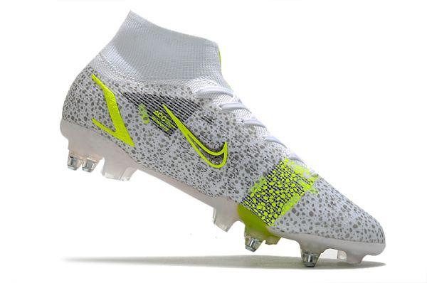 Buy Nike Mercurial Superfly 8 Elite SG-PRO - White_Black Metallic_Silver Volt