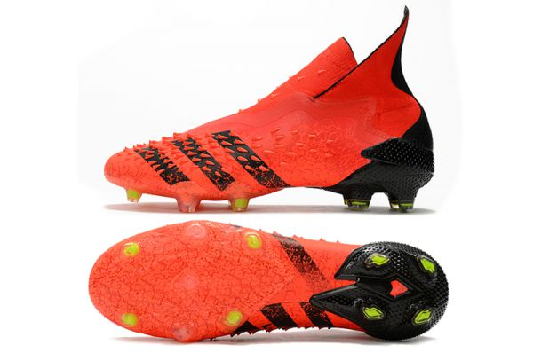 Adidas Predator Freak 'Meteorite' FG Soccer Boots Red Black Solar Red
