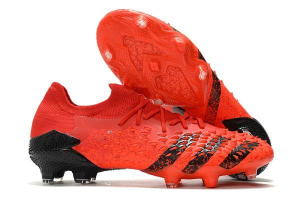 Adidas Predator Freak.1 'Meteorite' Low FG Soccer Boots Red Black Solar Red