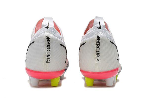 Kids Nike Mercurial Vapor 14 Elite AG-PRO Soccer Boots White Black Bright Crimson Pink Blast