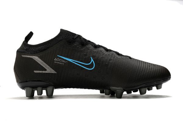 Kids Nike Mercurial Vapor 14 Elite AG-PRO Soccer Boots Black Iron Grey University Blue