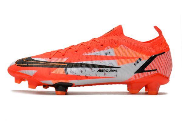 Kids Nike Mercurial Vapor 14 Elite CR7 FG Soccer Boots - Chile Red/Black/Ghost/Total Orange