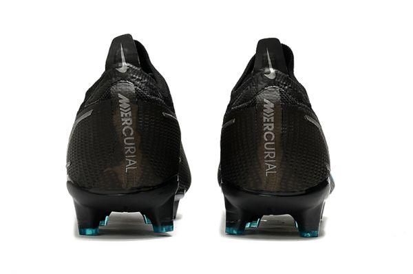 Kids Nike Mercurial Vapor 14 Elite FG Soccer Boots Black Iron Grey University Blue