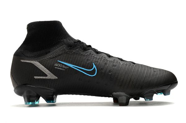 Nike Mercurial Superfly 8 Elite FG Soccer Boots Black Iron Grey University Blue