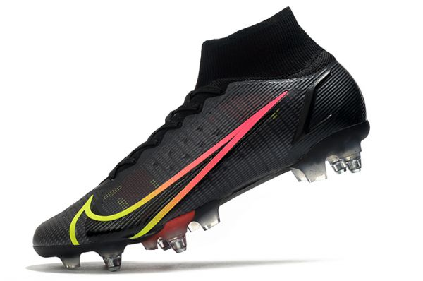Nike Mercurial Superfly 8 Elite SG-PRO Soccer Boots Black Cyber Yellow Off Noir