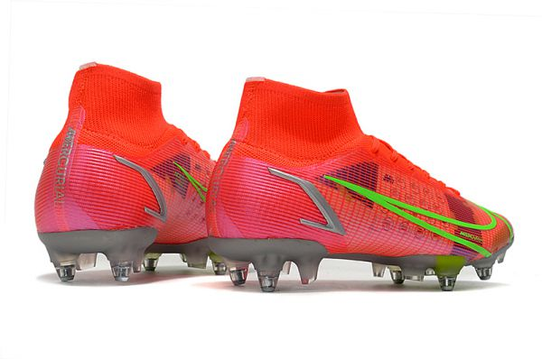 Nike Mercurial Superfly 8 Elite SG-PRO Soccer Boots Bright Crimson Metallic Silver