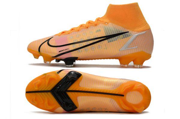 Nike Mercurial Superfly 8 Elite SG-PRO Soccer Boots Orange Black Multicolor