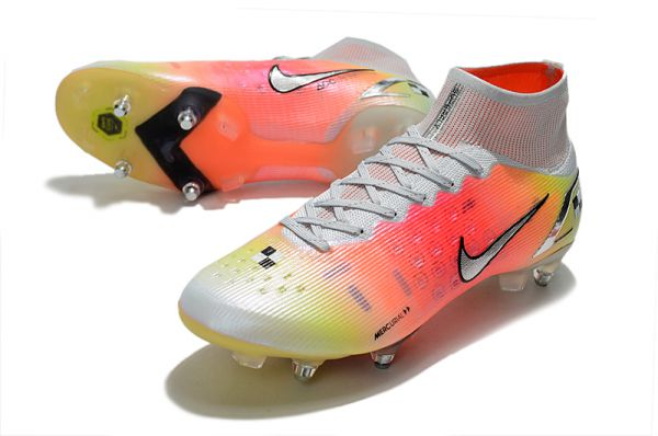 Nike Mercurial Superfly 8 Elite SG-PRO Soccer Boots White Metallic Silver Pure Platinum
