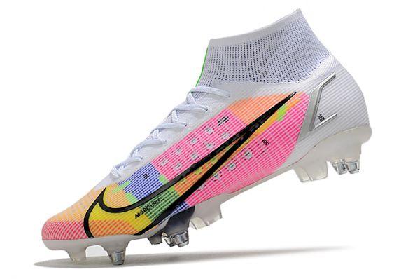 Nike Mercurial Superfly Dragonfly 8 Elite SG-PRO Soccer Boots White Metallic Silver Dark Raisin
