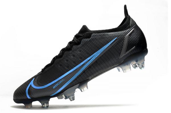 Nike Mercurial Vapor 14 Elite SG-PRO Soccer Boots Black Iron Grey University Blue