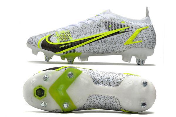 Nike Mercurial Vapor 14 Elite SG-PRO Soccer Boots White Black Metallic Silver Volt