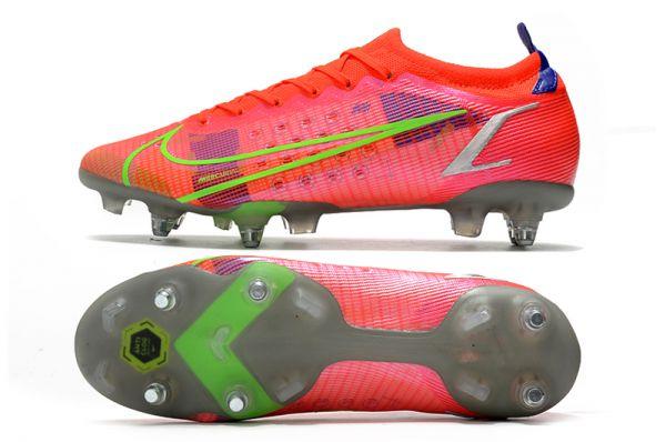 Nike Mercurial Vapor XIV Elite SG-PRO Soccer Boots Bright Crimson Metallic Silver