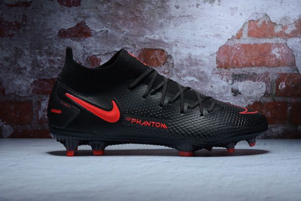 Nike Phantom GT Elite DF FG - Black/Chile Red/Dark Smoke Grey