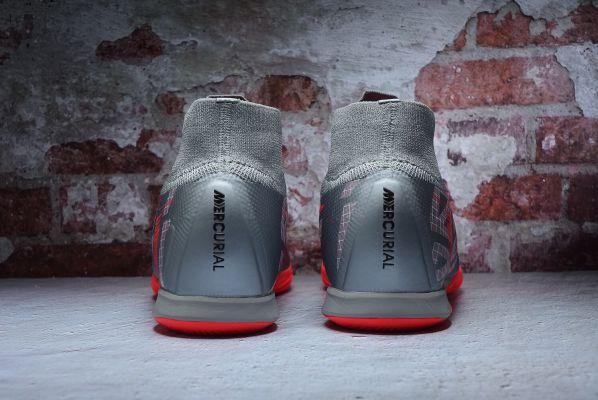 Nike Mercurial Superfly VII Elite IC Metallic Bomber Gray Black Particle Grey