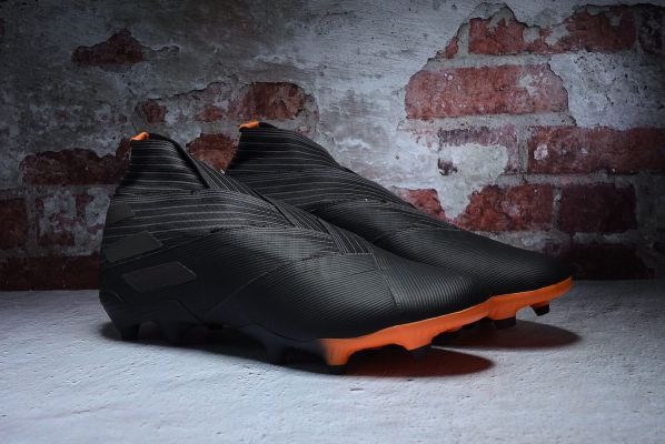 adidas Nemeziz 19+ 'Darkmotion' FG - Core Black / Core Black / Signal Orange