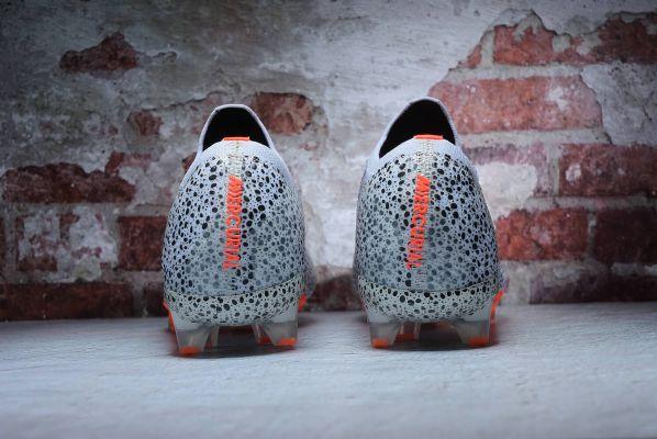 Kids Nike Mercurial Vapor XIII Elite CR7 Safari FG White Total Orange-Black
