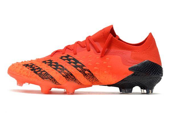 New Adidas Predator Freak .1 Low FG Football Boots Red Core Black Solar Red